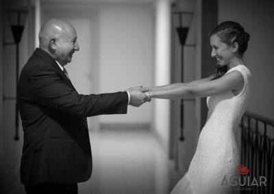 Union del padre y la novia, emocion