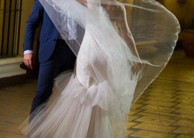 Vestido increible de novia volado